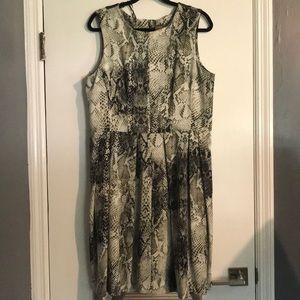 Snake print sleeveless dress